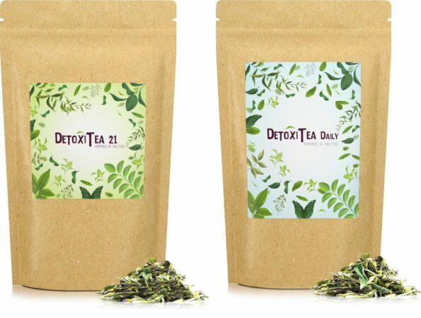 Afbeelding van Valetudo® Homemade Detox Thee Detoxitea Daily & 21 Duopack – Kruidenthee met Natuurlijke Ingrediënten voor Gezonde Levensstijl – 2x100g