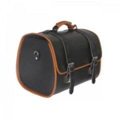 Original Vespa Ledertasche schwarz für den Gepäckträger GTS / Sprint / Primavera