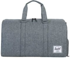 Grijze Herschel Supply Co. Men's Novel Duffle Weekend Bag - Raven Crosshatch