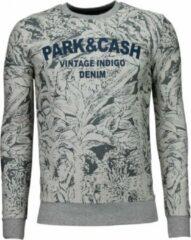 Black Number Park&Cash - Sweater - Grijs Sweaters / Crewnecks Heren Sweater Maat M