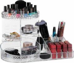 Transparante Relaxdays make up organizer - opbergbox - draaibaar - lippenstifthouder - opbergsysteem doorzichtig