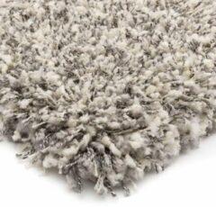 Hoogpolig vloerkleed Gemêleerd - Shaggy Prime wit/zilver 120x170 cm