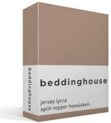 Beddinghouse Jersey - Lycra Split-topper Hoeslaken - Lits-jumeaux - 200x200/220 cm - Taupe