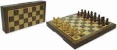 HOT Games Schaakcassete Magnetisch Walnoot 23x23x2 cm