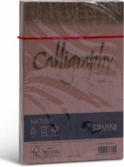NATURE Ecologisch Upcycle papier met 15 % notenschalen 25 enveloppen 120 x 180 120 g/m2 Amandel Bruin Mondorla FAVINI rustiek perkament papier