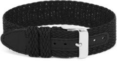 Ex&&&c Horlogeband Universeel WC26 Onderliggend Nylon/perlon Zwart 12mm