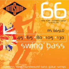 Rotosound Bas snaren RS665LD 5er 45-130 Swing bas 66, Stainless Steel