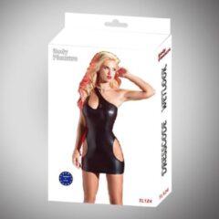 Zwarte Body Pleasure - Wetlook Lingerie - Super strakke sexy jurk - Tl124 - Sexy Dress - Large /Medium size - gave Cadeaubox - ideaal om te geven of te ontvangen