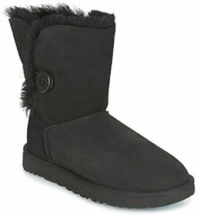 Zwarte UGG Australia UGG Women's Bailey Button II Sheepskin Boots - Black - UK 6.5 - Black