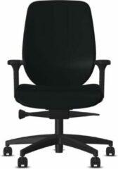Bureaustoel Giroflex 353-4529 - Kunstleder Zwart Skai Palma PLM701 - Voetkruis Kunststof Zwart 0810 - 4D Armleggers - Standaard Bekleding - Extra Lendensteun