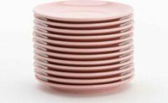 Lite-Body Hermes gebaksbordjes - Set van 12 stuks - 16 cm - Roze