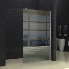 Transparante Wiesbaden Inloopdouche Miami 90x200cm Antikalk Helder Glas Chroom Profiel 10mm Veiligheidsglas Easy Clean