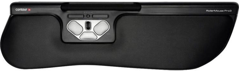 Afbeelding van Contour Design RollerMouse Pro3 Plus WiFi-muis USB Ergonomisch, Extra grote toetsen, Geïntegreerd scrollwiel Zwart
