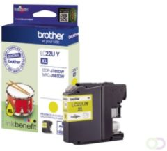 Brother LC-22UYBP 1200pagina's Geel inktcartridge