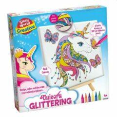 Creative Hobbydoos Tekenen Unicorn Glitter
