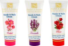 H&B Dead Sea Minerals Handcream - Rose - No paraffine - with UV filter - Set of 2