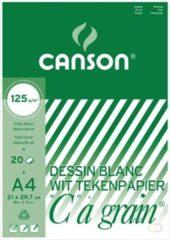 Canson Tekenblok C �� grain 125 g/m�� formaat 21 x 297 cm (A4)