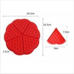 Rode Siliconen wafel mal - Duo pakket - bakvorm voor driehoekige wafels - vorm voor gebak/wafels/koeken - Holy Moldy