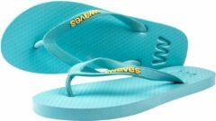 Waves teen slippers unisex lichtblauw maat 42 vegan duurzaam fair rubber flip flops