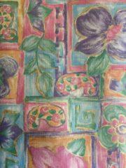 Blauwe MTis 24 Vellen cadeaupapier Fantasie Bloemen 50x70cm - Sh-Fb