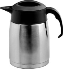 Isoleerkan EasyClean 1,6 liter rvs met zwart kunststof dop en handgreep
