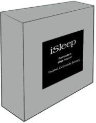 Grijze ISleep Dubbel Jersey Hoeslaken - Litsjumeaux - 160/180x200 cm - Grijs