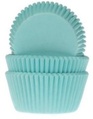 House of Marie Cupcake Cups Turquoise 50x33mm. 50 st.