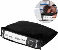 Zwarte Relaxdays power nap kussen - bureau kussen - slaapkussen - powernap - hoofdkussen kantoor