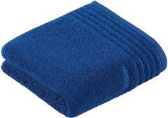 Donkerblauwe Vossen handdoek Vienna Style Supersoft 30x50 deep blue