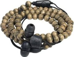 Midbass Headset »Natural Wooden Beads Wrap Walnut w/Mic«