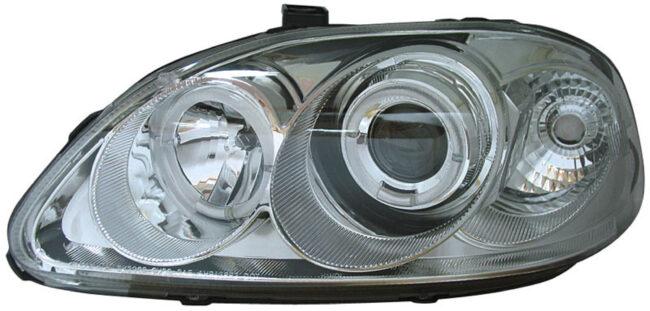 Afbeelding van Universeel Set Koplampen Honda Civic 1996-1999 - Chroom - incl. Angel-Eyes - Type 2