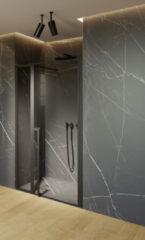 Riho Lucid GD104 douchedeur 110x200cm matzwart
