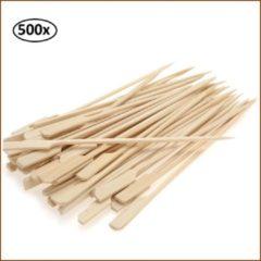Bruine Thema party Satestokjes - Bamboe - 500 Stuks