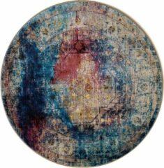 Impression Rugs Picasso Heriz Vintage Rond Vloerkleed Multi / Blauw Laagpolig - 200 CM ROND