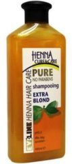 Henna Cure & Care Shampoo pure extra blond 400 Milliliter