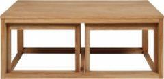 Dynamic24 3-er Set PKline Couchtisch Tisch Beistelltisch Wohnzimmertisch Holztisch