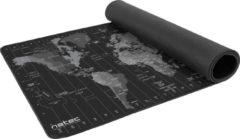 Grijze Natec - Time Zone Map Maxi - Muismat groot - Wereldkaart