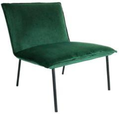 Budget Design Store Kick fauteuil Velvet Lola - Groen