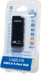 Zwarte USB Hub Logilink UH0001A USB 2.0 4-Port