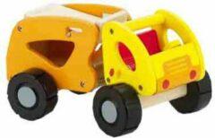 Oranje Classic houten vrachtwagen