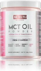 Be Keto   MCT Oil Powder   Fresh Strawberry   1 x 300 gram   Snel afvallen zonder poespas!