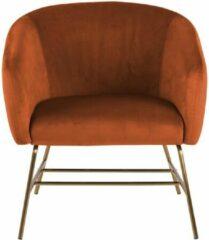 Lisomme fauteuil Lissy - Fluweel - Oranje