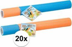 Summertime 20x stuks waterpistolen/spuiten van foam 33 cm