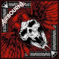 Rock Off Airbourne Bandana Red Skull Zwart