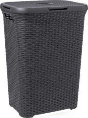 Antraciet-grijze Wasmand Wasbox Style - 60 lt - Antraciet - Curver