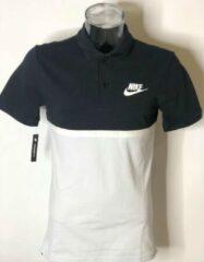 Witte Nike BQ6716-011 934698-451 Heren Poloshirt Maat S