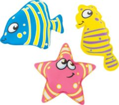 BS Toys opduikdieren 3 stuks blauw/roze/geel