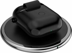 Zwarte Deltaco SiGN Draadloze oplader voor Apple AirPods case