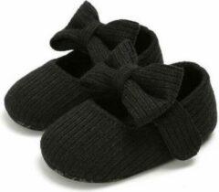 Happy Alpaca Babyschoenen - Baby schoentjes Meisje - Zomer - Sloffen - Zwart - Maat 21 - 12-18 maanden