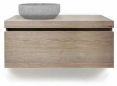 LoooX Wooden Drawer BoX ladenkast met 1 lade 100x45x46cm met softclose eiken old grey WDB1000